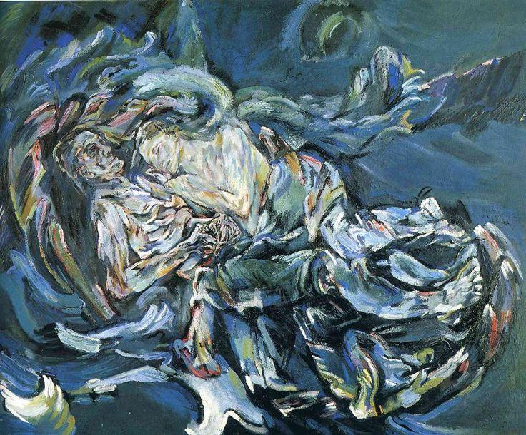 Oskar Kokoschka - The Bride of the Wind (The Tempest) (1914) (La sposa del vento, o La tempesta)