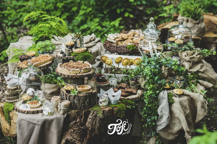 Rustic Style wedding dessert table