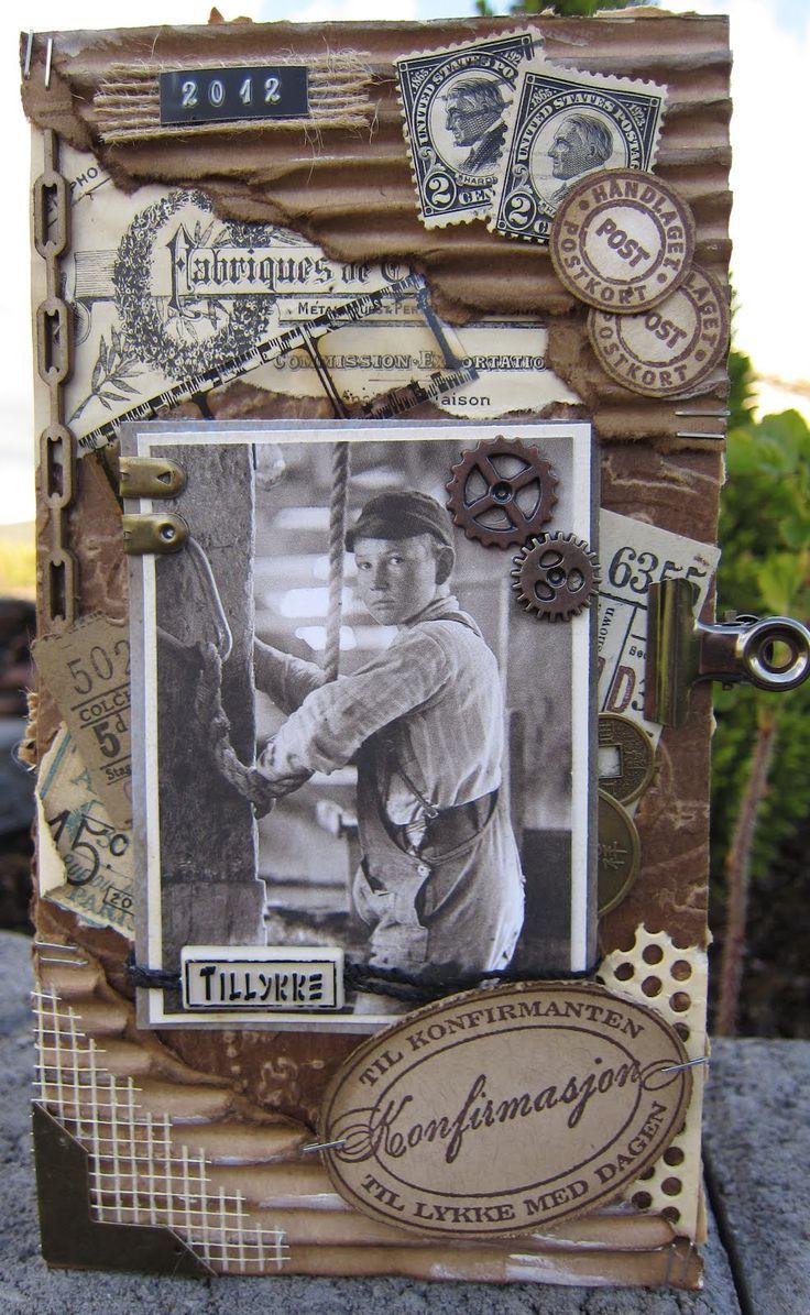 min lille scrappe-verden: Vintage Konfirmant