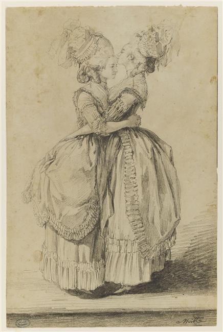Mme. Élisabeth et Marie Antoinette s'embrassant by Alexandre Moitte (Palais des Beaux-Arts, Lille France)