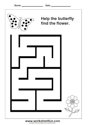 Preschool and Kindergarten Mazes