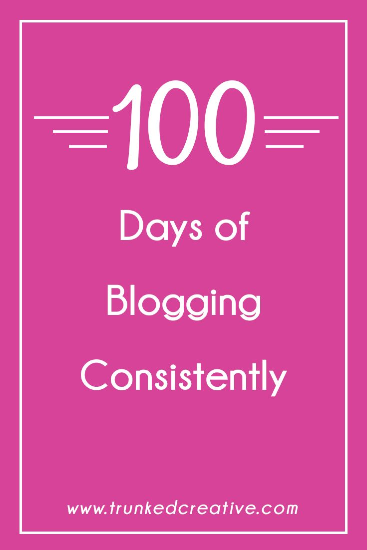 How blogging every day for 100 days helped me become a better, more effective communicator, and taught me other valuable lessons in my business. Plus a gameplan to help you blog for 100 days straight! From trunkedcreative.com