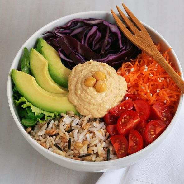 Veggie Whole Bowl | feistyveggies.com  I made this as a great weekday, post-gym meal and was extremely satisfied!