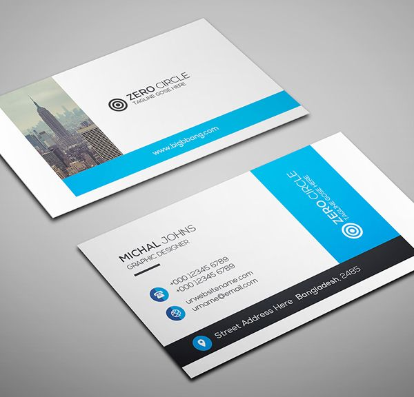 Business Card Template Und Design Mit Business Card Design