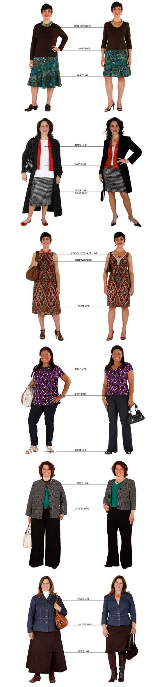Dress to flatter your shape using ideal fit and proportions
