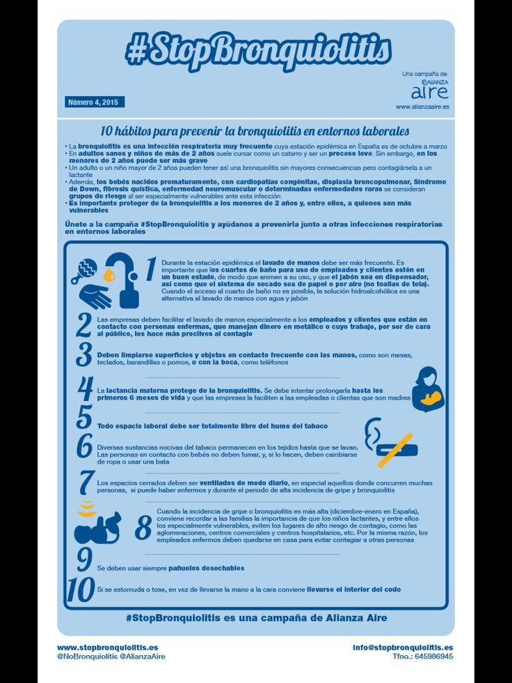 Boletín 4. 10 hábitos para prevenir la #Bronquiolitis en entornos laborales.