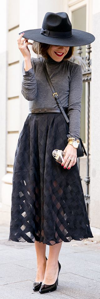 gray and black street style