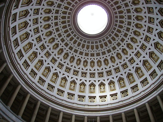 View into the dome of the Befreiungshalle, Kelheim, Germany