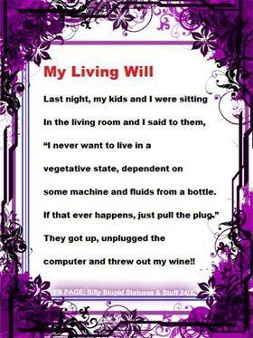 My Living Will/Wine Jk.