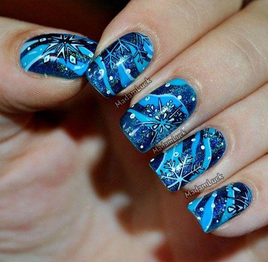 Easy Winter Snowflake Nail Art Ideas & Designs 2012/2013 For Girls | Girlshue