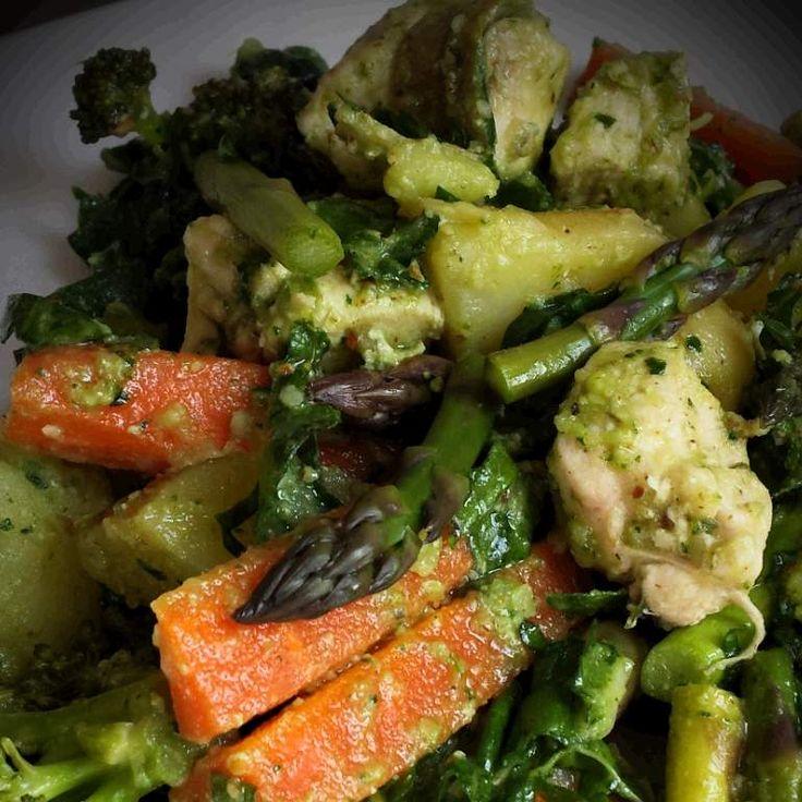 Asparagus, Broccolini & Chicken Salad