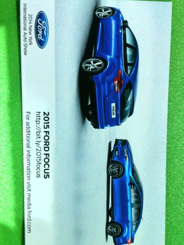 2015 Ford Focus  auto brochure NY auto show press conference sept 2014