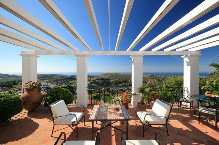 Charming terrace overlooking Marbella Club Golf Resort