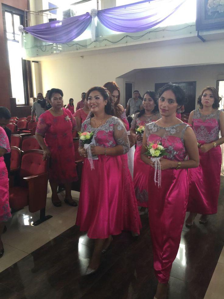 Almy & Apin Wedding day  9th February 2017  #bridesmaid