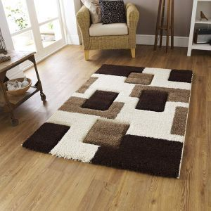Clean-lined super shaggy rug, perfect partner for a sophisticated living space.