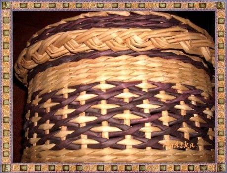 Tutorial - weaving a cross stitch pattern - Moje pletení z papíru - Fotoalbum - NÁVOD - VZORY PLETENÍ - NÁVOD NA DIAMANTOVOU VAZBU