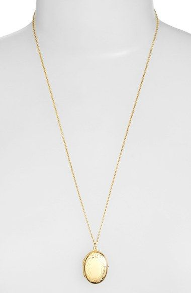 Argento Vivo Small Oval Locket Pendant Necklace available at #Nordstrom