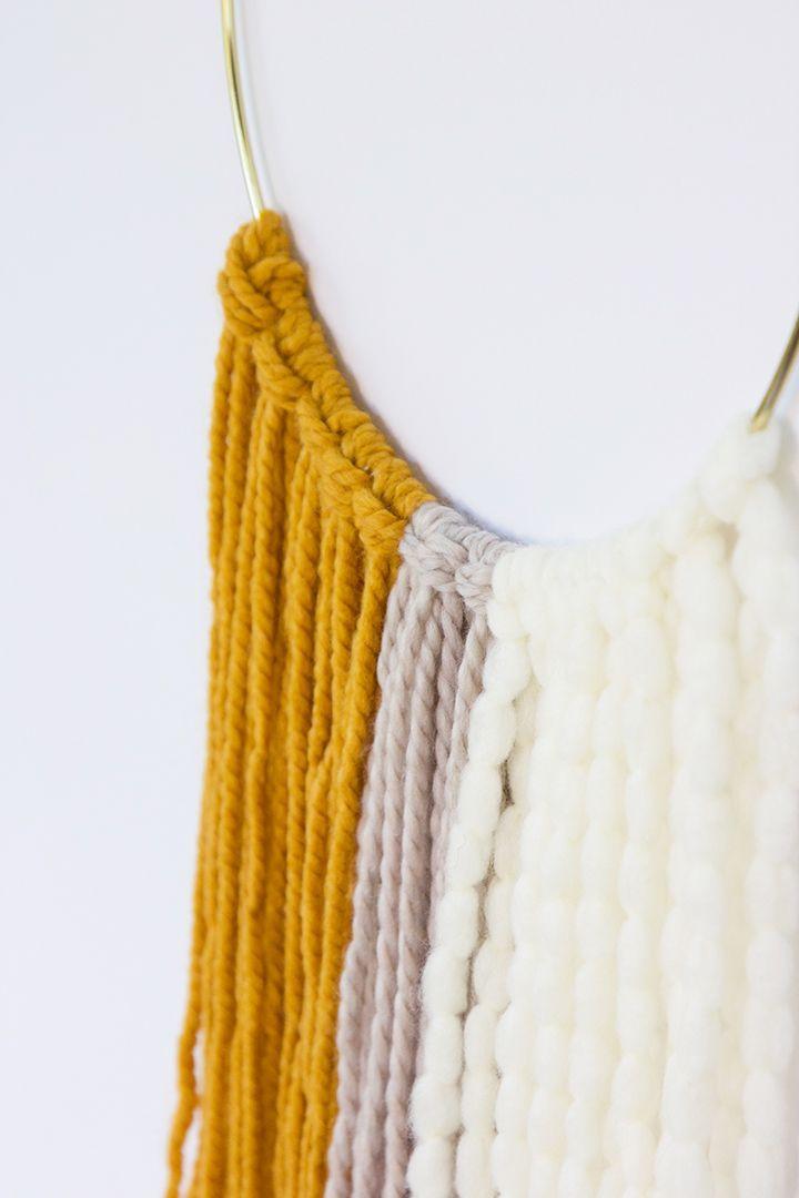 DIY Fall inspired wall hanging #yarn #wallhanging #DIY