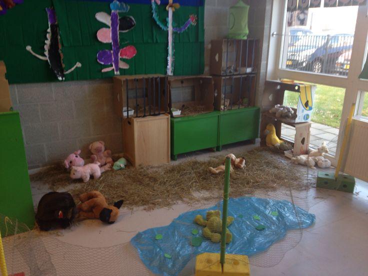 Kinderboerderij bij de kleuters (hoek)