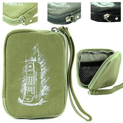 Kroo Courtyard Green (olive) Canvas Sleeve Carrying Case with Mesh Zipper Pocket for Canon PowerShot ELPH 350 HS Digital Camera. #Kroo #Courtyard #Green #(olive) #Canvas #Sleeve #Carrying #Case #with #Mesh #Zipper #Pocket #Canon #PowerShot #ELPH #Digital #Camera