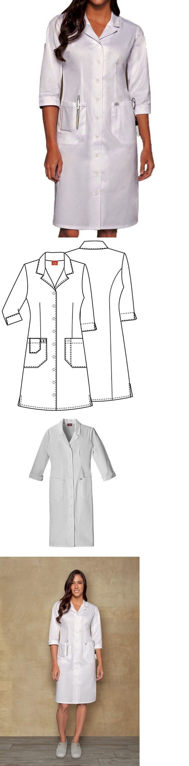 Tops 105440: Dickies 84503 Front Button White Scrub Dress Nurses, Usher, Student - Nwt -> BUY IT NOW ONLY: $32.98 on eBay!