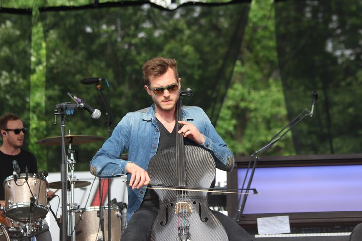 Brent Kutzle performs for OneRepublic during KFest 2013 at Dutchess Stadium, located in Wappingers Falls, NY.