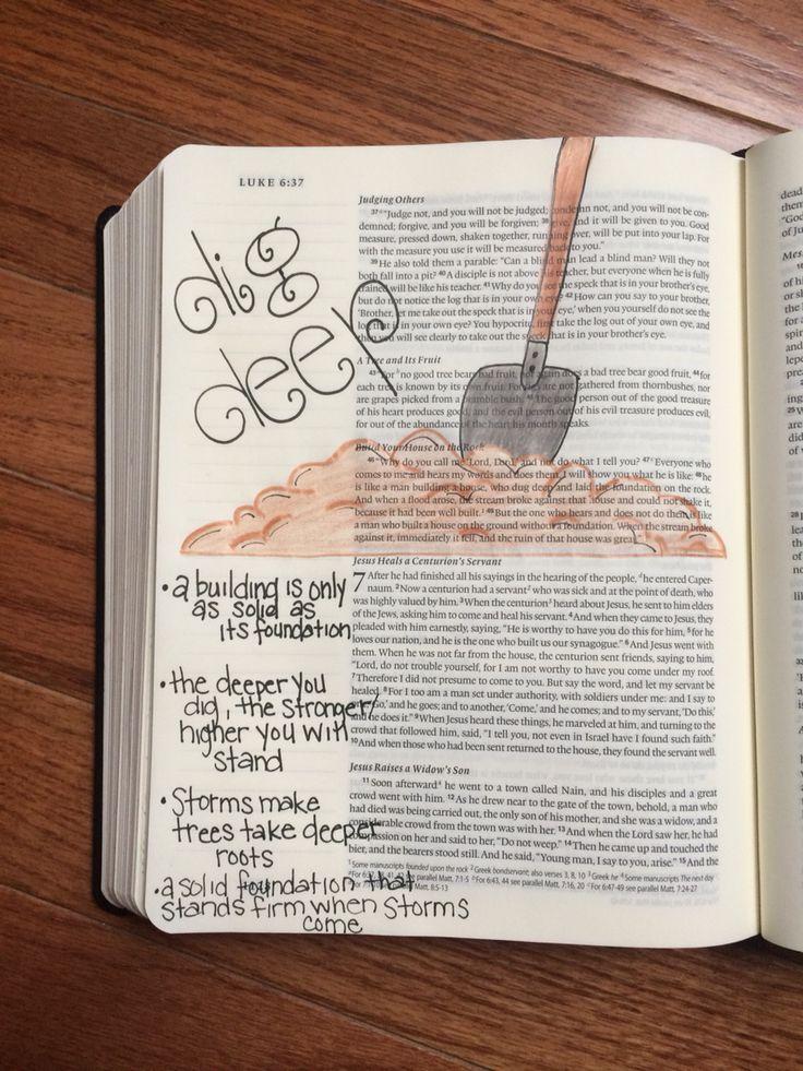 526 best bilbe art journal images on pinterest bible art art luke 6 yelopaper Images