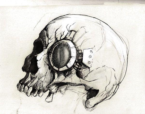 Skull Drawing by Bastien Lecouffe Deharme: http ...