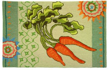 This would be super cute in a big farmhouse kitchen. Garden Carrots Rug - transitional - rugs - Homefires