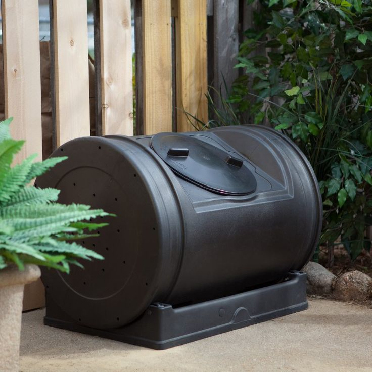 Compost Bin: Good Ideas 52 Gallon Compost Wizard Jr. Recycled Plastic Compost Tumbler