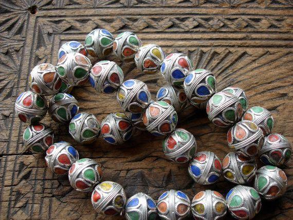 Smalto marocchino appannata piccola perla lucido con forme di