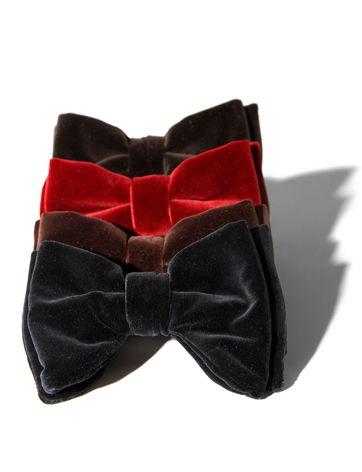 Tom ford velvet bow ties!