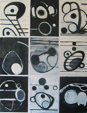 B/W Enamel on paper, 1995 1950mm x 1530mm
