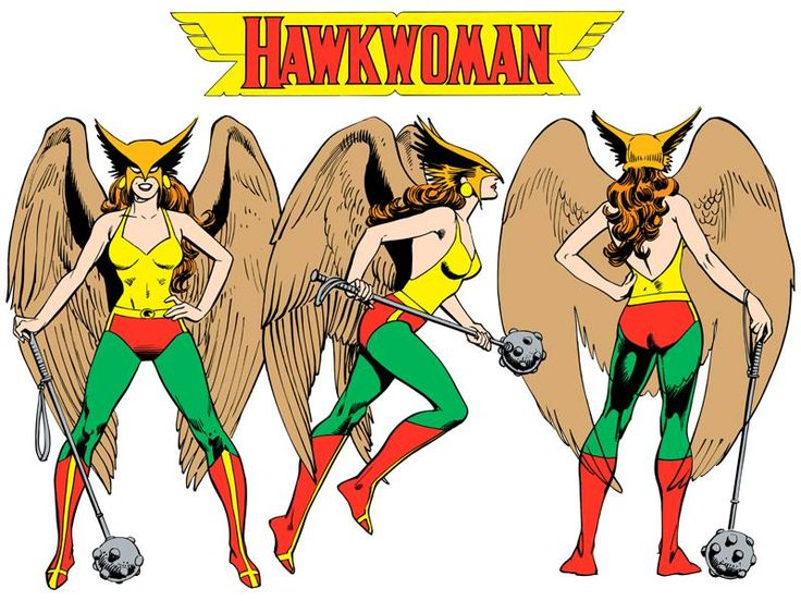 Hawkwoman by José Luis García-López from the 1982 DC Comics Style Guide