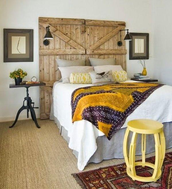Trucos para decorar tu casa con poco dinero puerta - Decorar pared cabecero ...