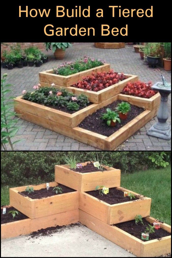 Build a beautiful tiered garden bed!