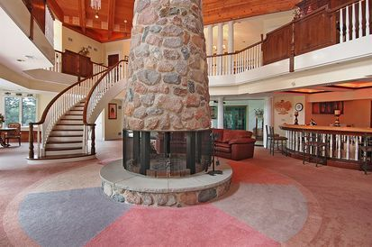 A 360 Degree Stone Fireplace Dreamhome Fanciful