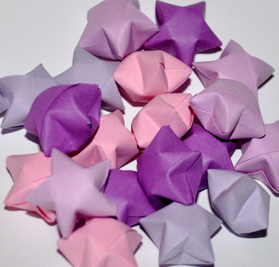Colored stars to decorate my centerpieces with!