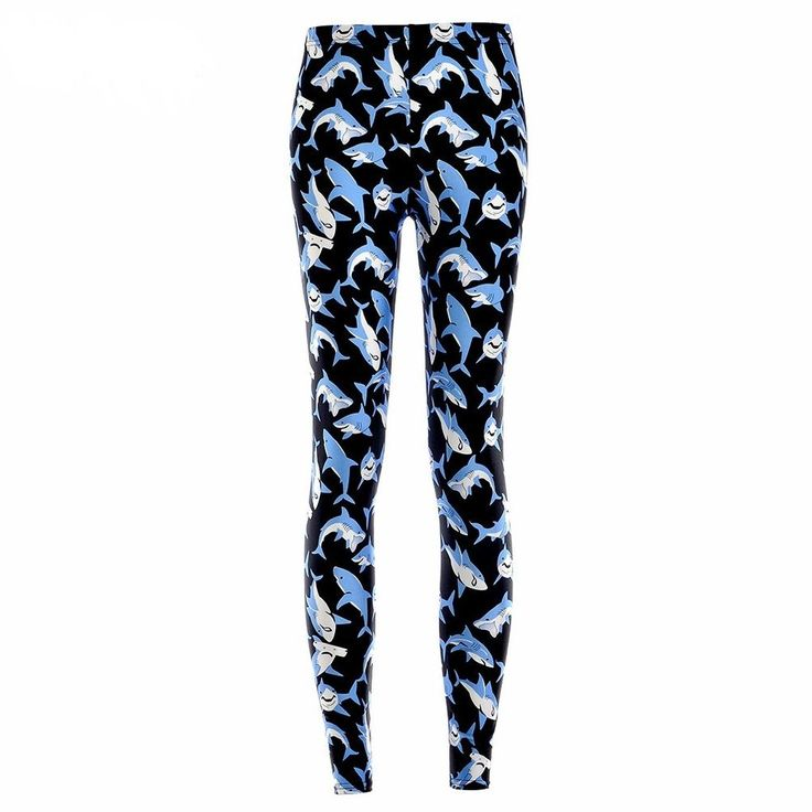 UK Shark Leggings. Ultra cool shark leggings. Perfect for festivals, parties, clubbing, loungewear or yoga. We are happy to help. Small - Length 88cm, Unstretched Waist 62cm, Max Stretch 86cm, Ankle Opening 22cm. | eBay!