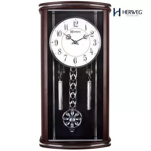 relógio parede pêndulo musical  herweg 6391