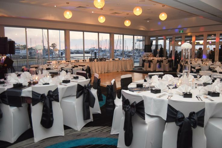 Function & Dining Room set up while the guests have canapés on the deck.