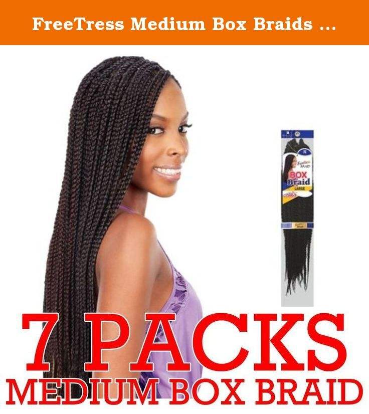 FreeTress Medium Box Braids Shake-N-Go Crochet Latch Hook Braiding Hair (pack of 7) (1). Crochet & Latch Hook Braid Made with Premium Fiber This hair does NOT come with Weft/Track.
