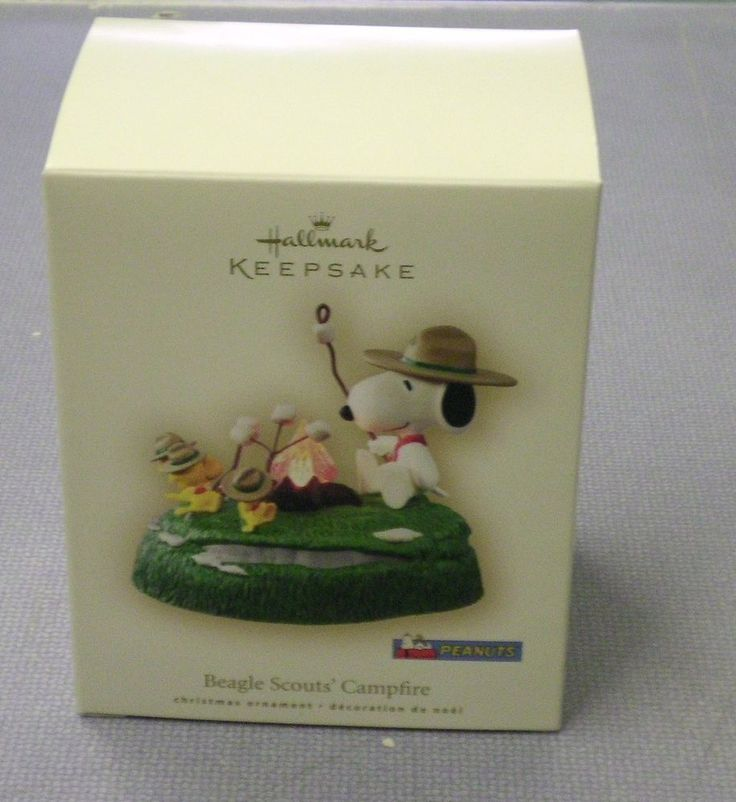 US $24.99 New in Collectibles, Decorative Collectibles, Decorative Collectible Brands, Hallmark, ornaments by year, 2005-now New 2007 Hallmark Keepsake Peanuts Snoopy Beagle Scouts Campfire Ornament