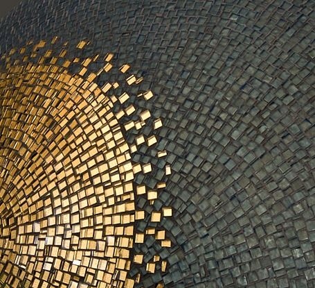 'Oculus #1' by artist Ann Gardner. Would love to find a reception venue with beautiful black and gold mosaic tiling to add to the atmosphere.