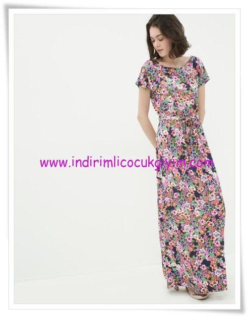 Koton Cicek Desenli Maksi Elbise 70 Tl Maksi Elbise Elbise Elbise Modelleri
