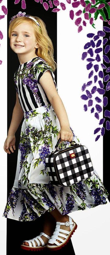 ALALOSHA: VOGUE ENFANTS: Dolce & Gabbana Luxury Girl's Wear Summer 2015