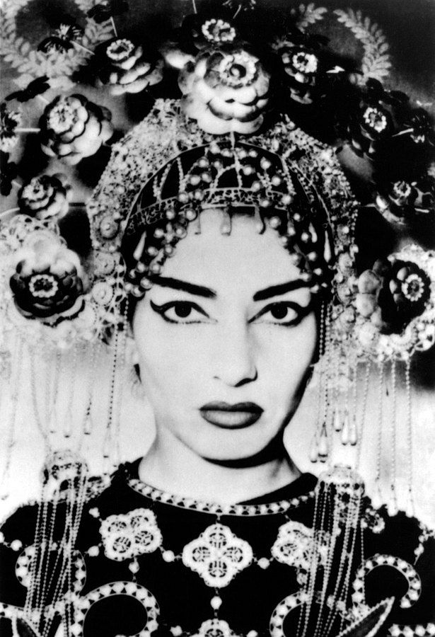 Maria Callas, Commendatore (Greek: Μαρία Κάλλας) (December 2, 1923 – September 16, 1977) was an American-born Greek soprano and one of the most renowned opera singers of the 20th century.  Picture from Turandot, 1950
