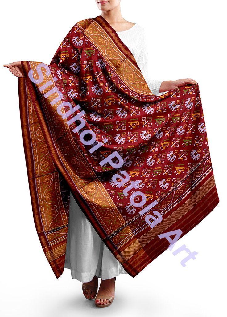 Www.sindhoipatola.in Patola dupatta By sindhoi patola art Whatsapp 09510111976
