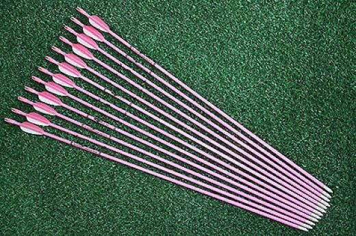 "Hunter 12pcs Pink Fiberglass Arrows 28"" Girl Woman Archery Hunting Recurve Bow Arrows Girl Pink,archery Vanes China 12 Yes"