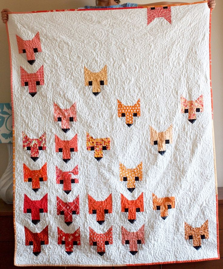 a quilt is nice: Fancy Fox Quilt